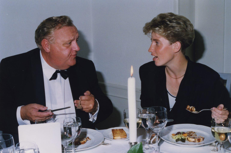 Orthodontist Gerrit Gelink (Hengelo) en Fokelien vd Meulen, 1991